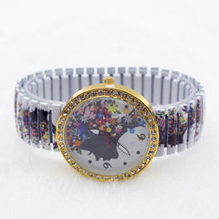 Beauty Women Flower Crystal Watch - Oh Yours Fashion - 3