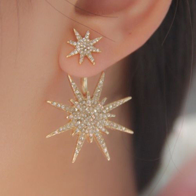 Crystal Luxury Six-Pointed Star Single Earring - Oh Yours Fashion - 1