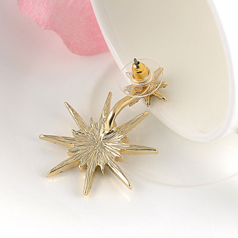 Crystal Luxury Six-Pointed Star Single Earring - Oh Yours Fashion - 5