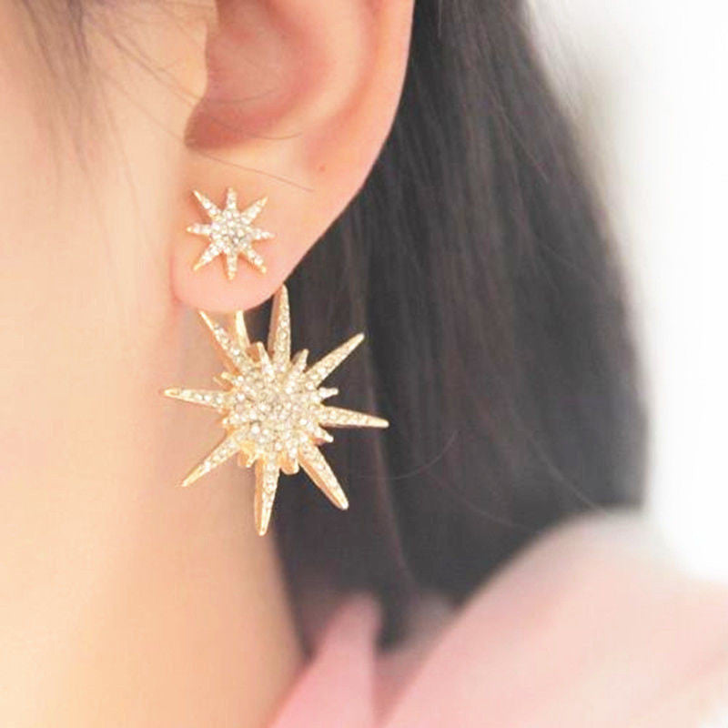 Crystal Luxury Six-Pointed Star Single Earring - Oh Yours Fashion - 3