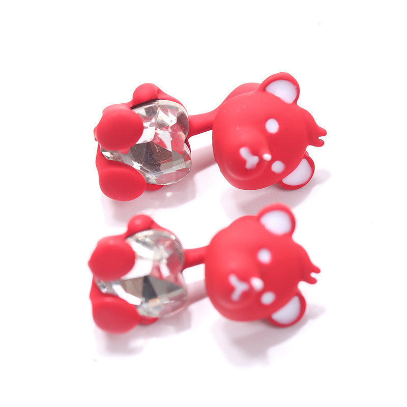 3D Cartoon Animals Through Stud Earrings - Oh Yours Fashion - 18