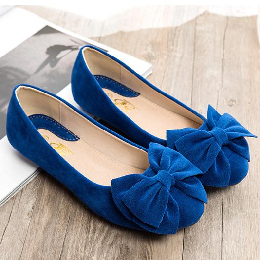 Creative Bowknot Suede Comfortable Flat Shoes Sneaker - MeetYoursFashion - 9