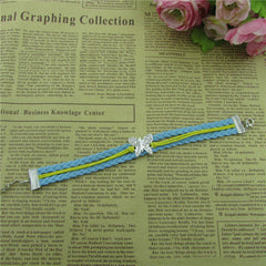 Crystal Butterfly Woven Leather Cord Bracelet - Oh Yours Fashion - 3