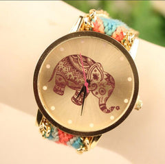 Wool Knitting Strap Elephant Print Watch - Oh Yours Fashion - 8