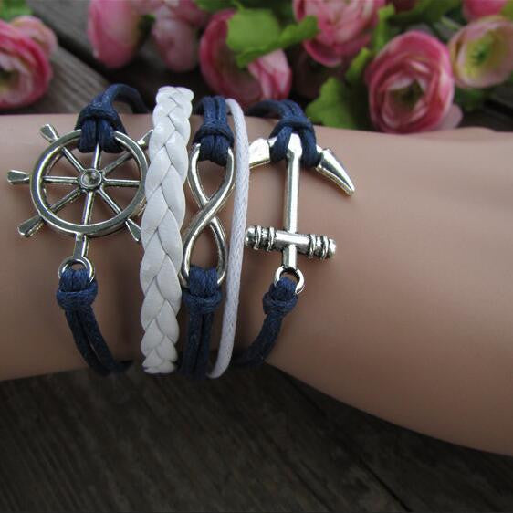 Anchor Eight Multilayer Colored Bracelet - Oh Yours Fashion - 1
