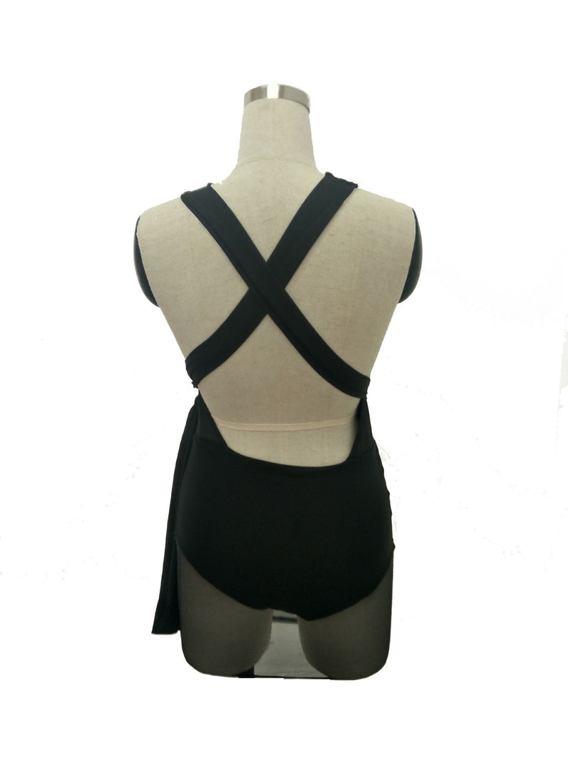 Backless Deep V Nightclub Sexy Perspective Short Dress - Oh Yours Fashion - 5