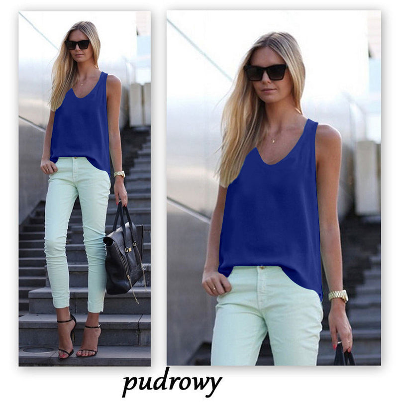 Pure Color Scoop Casual Sleeves Street Chic Vest - Oh Yours Fashion - 7