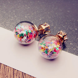 Fashion Glass Ball Color Star Earring - Oh Yours Fashion - 2