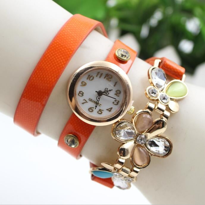 Bright Skin Three Flower Watch - Oh Yours Fashion - 1