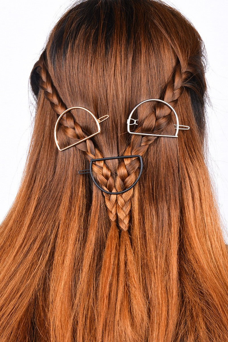 Simple D Shape Women's Hairpin - Oh Yours Fashion - 3