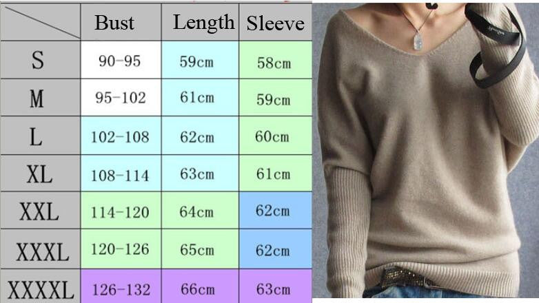 Loose V Neck Batwing Pullover Sweater - Oh Yours Fashion - 3