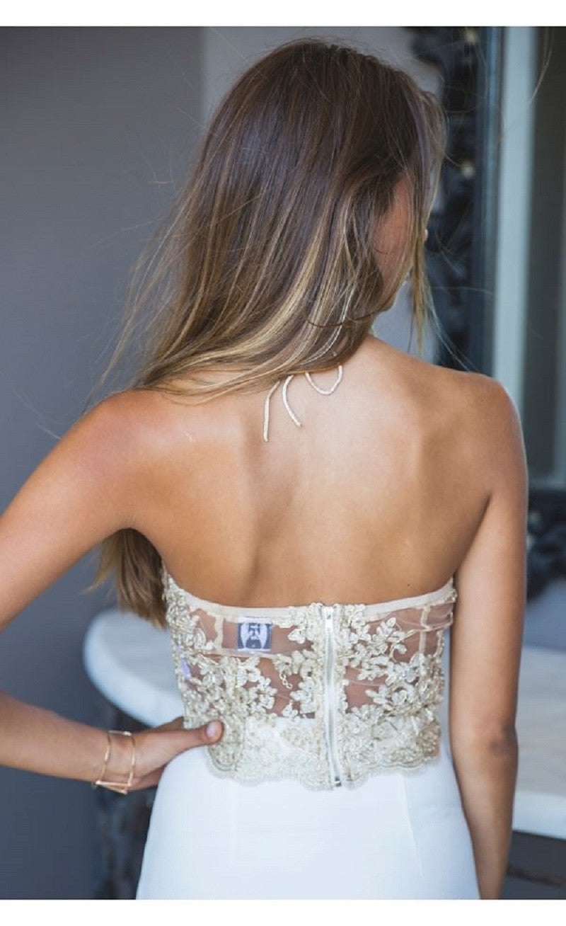 Halter Lace Transparent Sleeveless Backless Sheath Vest - Oh Yours Fashion - 8