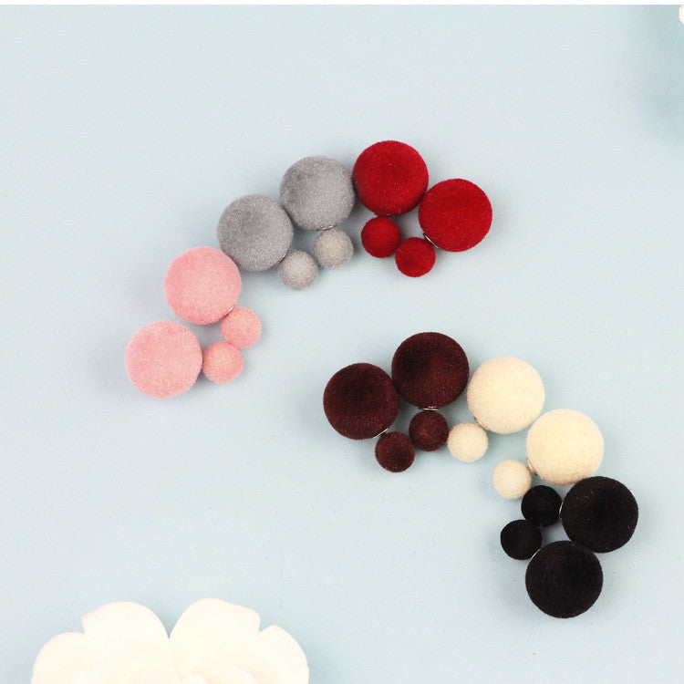 Korea Style Velvet Ball Fashion Earring - Oh Yours Fashion - 11