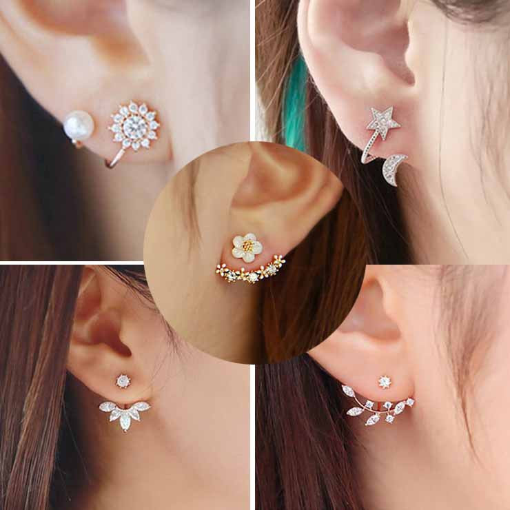 Daisy Flower Crystal Charming Earring - Oh Yours Fashion - 1