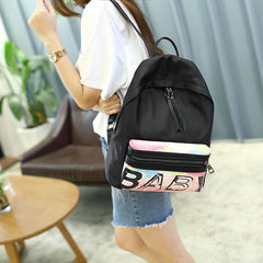 Letter Floral Print Fashion PU Backpack - Oh Yours Fashion - 4