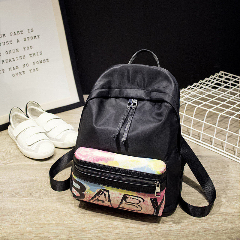 Letter Floral Print Fashion PU Backpack - Oh Yours Fashion - 1