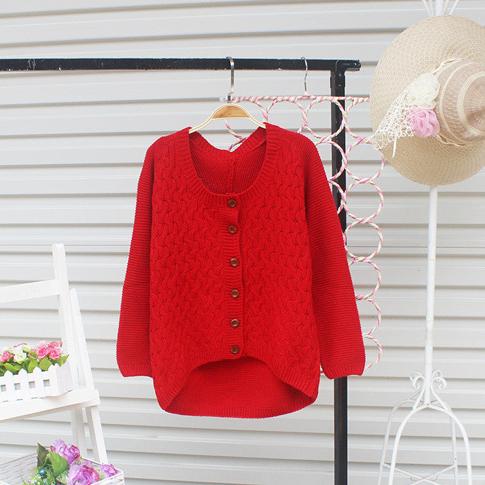 Cardigan Pure Color Elbow Patch Knit Sweater - Oh Yours Fashion - 5