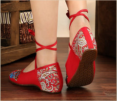 Butterfly Embroidery National Style Heels Shoes - Oh Yours Fashion - 7