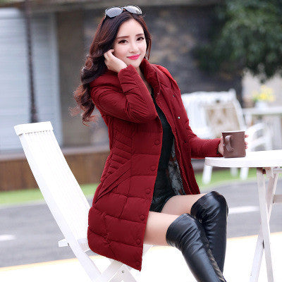 Warm Thick Long Women's Hoodie Coat - Oh Yours Fashion - 5