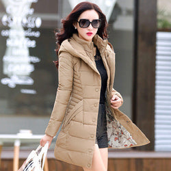Warm Thick Long Women's Hoodie Coat - Oh Yours Fashion - 1