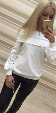Off-shoulder Strapless Long Sleeves Pure Color Casual Blouse - Oh Yours Fashion - 2