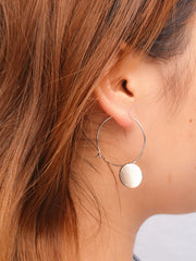Korean Style Geometric Wafer Circle Earrings - Oh Yours Fashion - 5