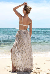 Sequins Tassel Mesh Long Beach Skirt - Oh Yours Fashion - 6