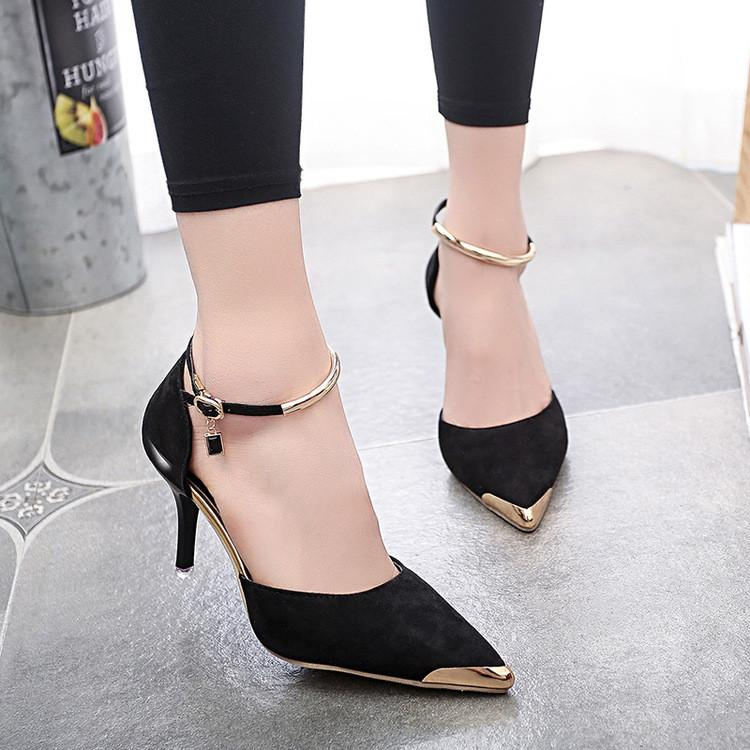 Sexy Joker Pointed Ankle High Stiletto Heels