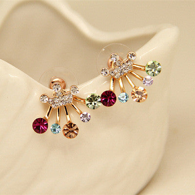 Daisy Flower Crystal Charming Earring - Oh Yours Fashion - 33