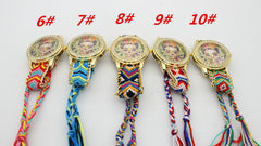 Beauty Girl Print Knitting Wool Strap Watch - Oh Yours Fashion - 5