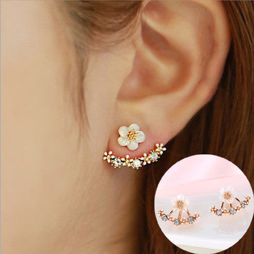 Daisy Flower Crystal Charming Earring - Oh Yours Fashion - 15