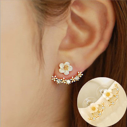 Daisy Flower Crystal Charming Earring - Oh Yours Fashion - 14