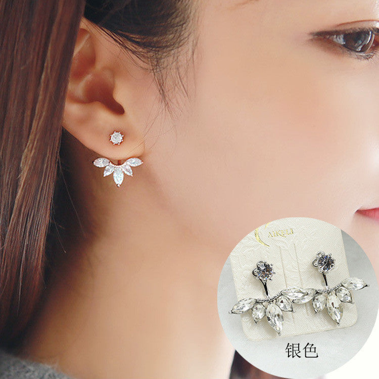 Daisy Flower Crystal Charming Earring - Oh Yours Fashion - 8