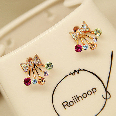 Daisy Flower Crystal Charming Earring - Oh Yours Fashion - 34