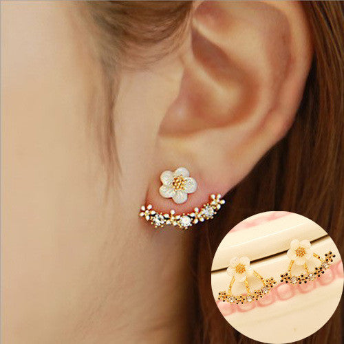 Daisy Flower Crystal Charming Earring - Oh Yours Fashion - 13