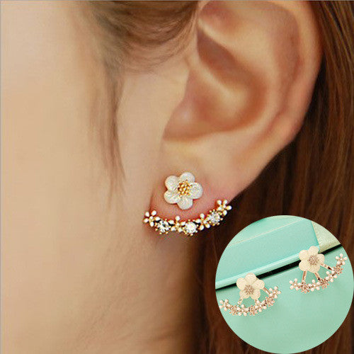 Daisy Flower Crystal Charming Earring - Oh Yours Fashion - 16
