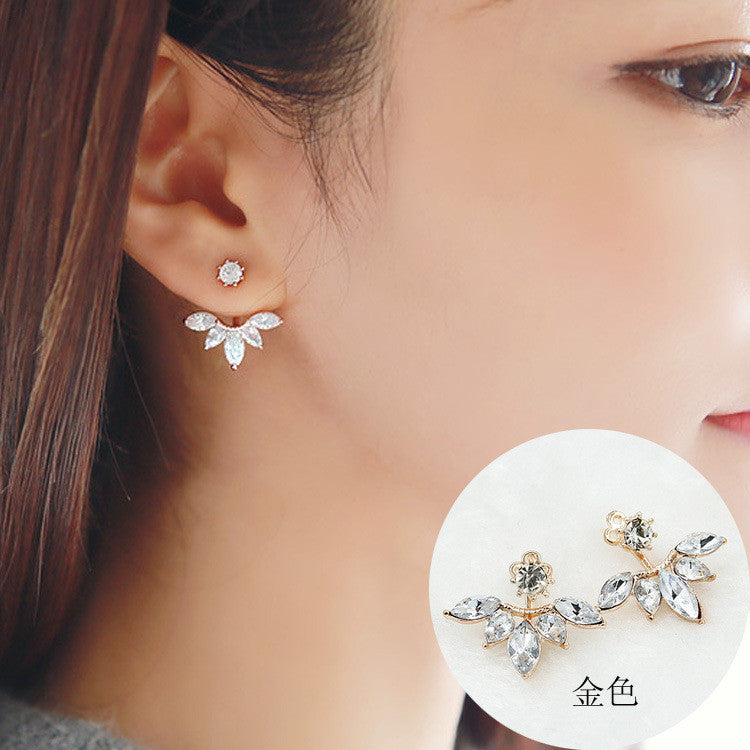 Daisy Flower Crystal Charming Earring - Oh Yours Fashion - 9