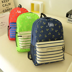 Anchor Print Hot style Navy Stripe Backpack - Oh Yours Fashion - 4