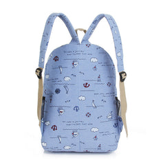 Bright Color Sailing Print Cute School Backpack Bag - Oh Yours Fashion - 7