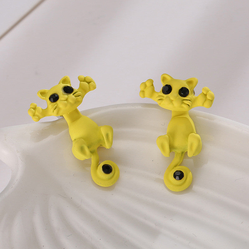 Creative Lovely Cat Stud Earrings - Oh Yours Fashion - 2