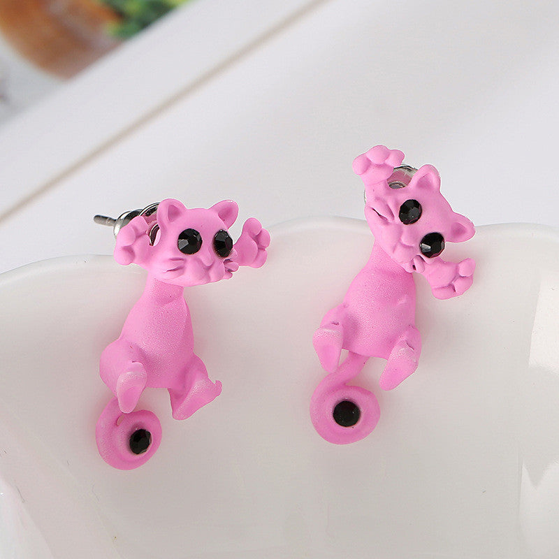 Creative Lovely Cat Stud Earrings - Oh Yours Fashion - 11