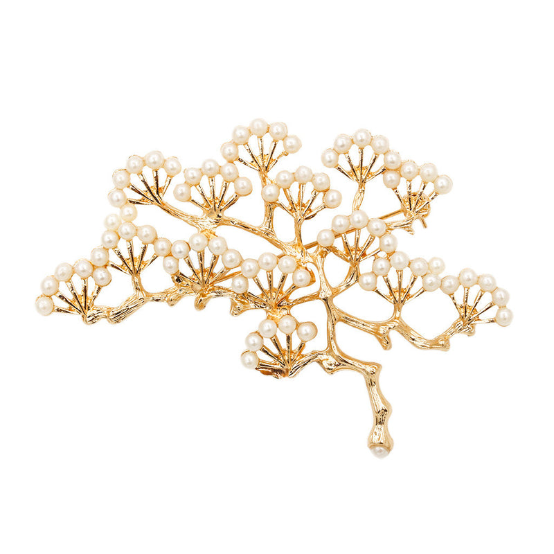 Beautiful Pine Pearl Brooch - Oh Yours Fashion - 2