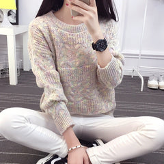 Color Knitting Female Casual Sweater - Oh Yours Fashion - 4