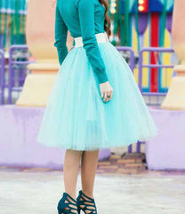 Beautiful Multi-layer Pure Color A-line Tulle Skirt - Oh Yours Fashion - 6