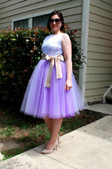 Beautiful Multi-layer Pure Color A-line Tulle Skirt - Oh Yours Fashion - 8