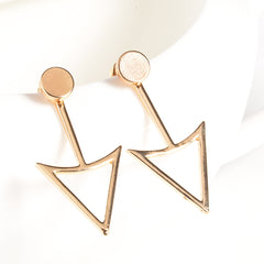 Unique Triangle Women's Earrings - Oh Yours Fashion - 2
