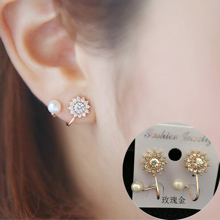 Daisy Flower Crystal Charming Earring - Oh Yours Fashion - 4