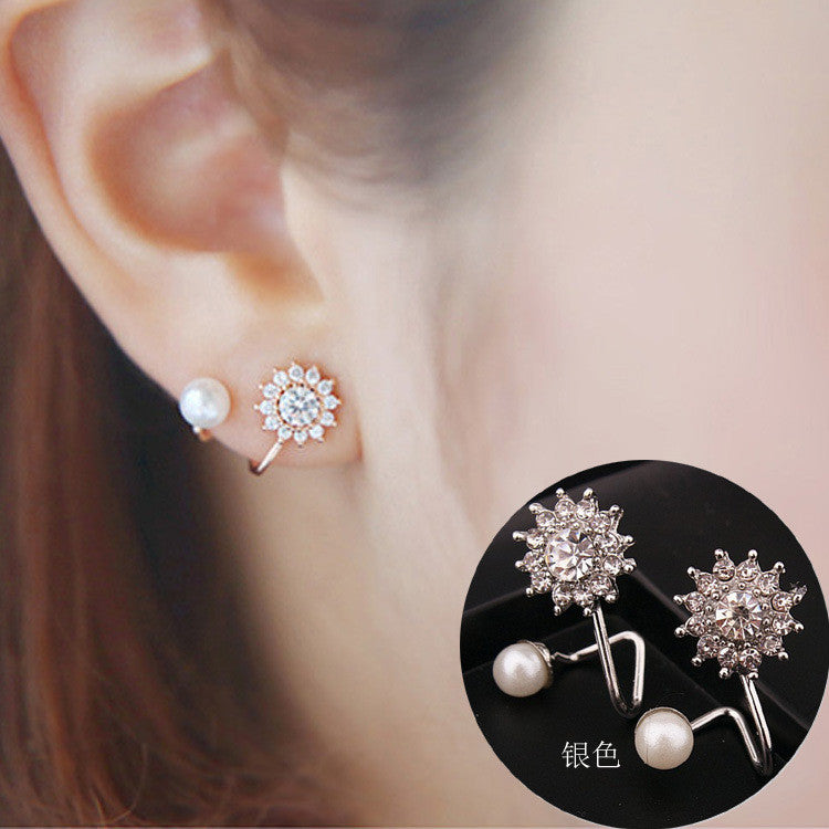Daisy Flower Crystal Charming Earring - Oh Yours Fashion - 3