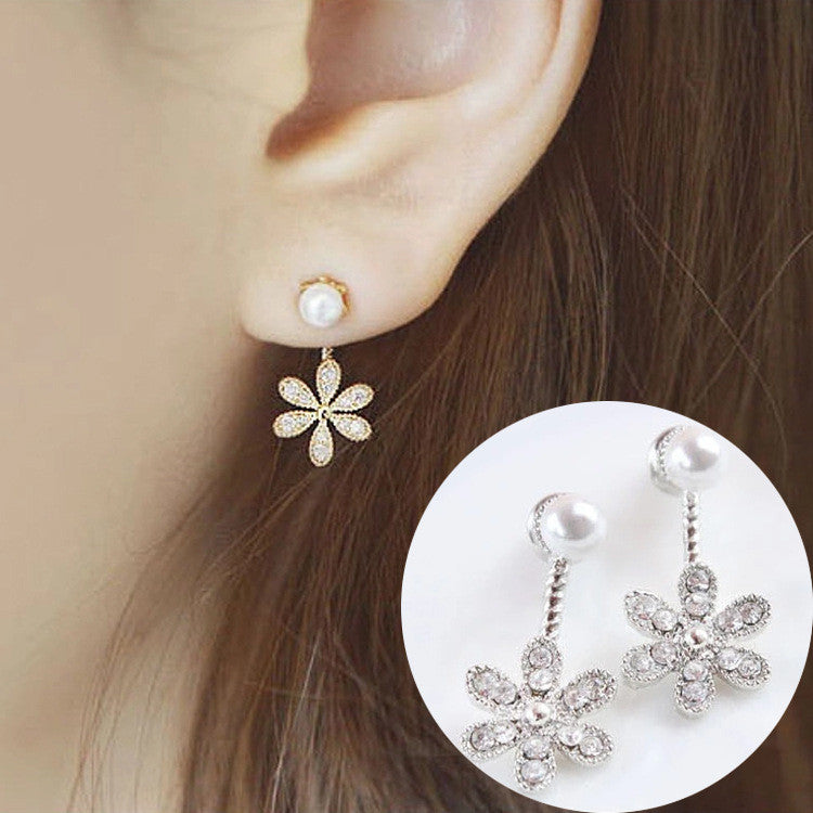Daisy Flower Crystal Charming Earring - Oh Yours Fashion - 25