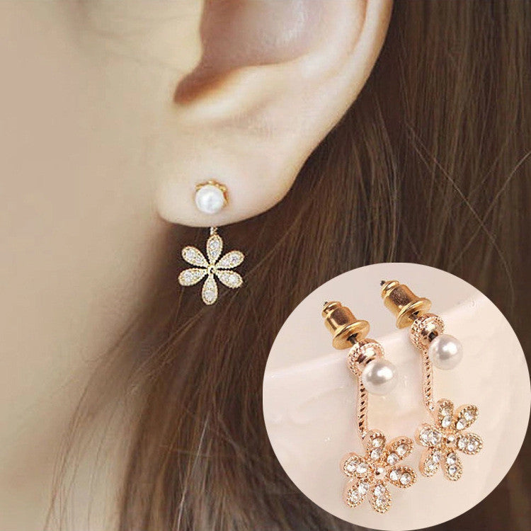 Daisy Flower Crystal Charming Earring - Oh Yours Fashion - 24